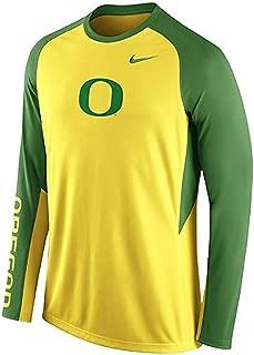 Nike Oregon Ducks Dri-Fit Basketball Elite Long Sleeve Shooting Shirt (Small)