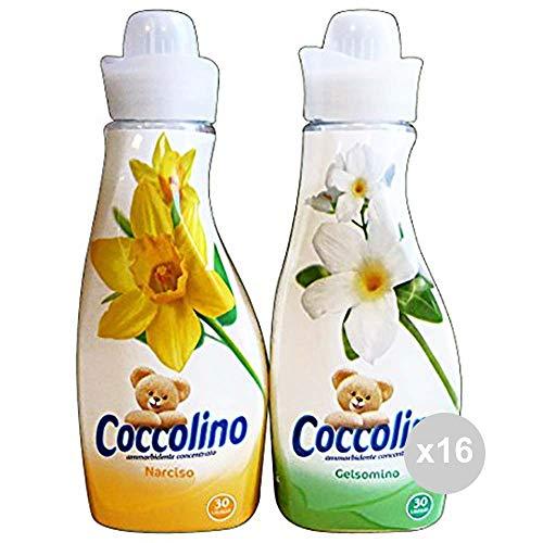 Coccolino Set 16 Weichspüler 750 Konzentrat Verpackung Mista Narciso-Gelsomino Creations Mehrfarbig