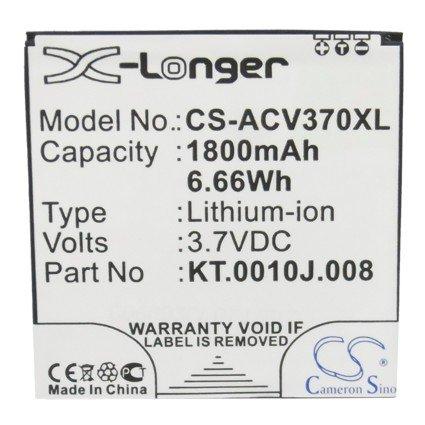 CS 1800mAh Li-Ion batería para Acer V370Liquid E2Dou, sustituye a Acer JD de 201212de jlqu de C11M de 003KT.0010J.008