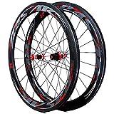 Rueda de Bicicleta de montaña Llanta de Bicicleta Carbono Recto Tire Flower Drum Set 700c Bicicletas Ruedas C Freno V Freno, Pentire, 55 mm