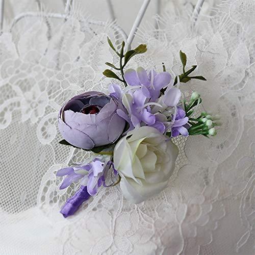 Alician Elegante Kunstmatige Pols Bloem/Corsage voor Bruiloft Party Bruid Bruidegom Accessoires