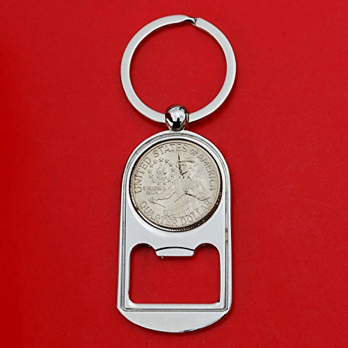 US 1976 Washington Quarter BU Uncirculated Coin Key Chain Ring Bottle Opener NEW - Drummer Boy