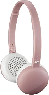 JVC Flats Wireless On Ear Headphones, Light Weight, 11 Hours Long Battery Life - HAS20BTP (Pink)