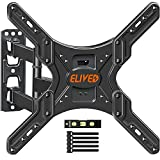TV Wall Mount Swivel and Tilt Full Motion TV Mount for 26-55 Inch Curved/Flat TVs, Wall Mount TV Bracket with Articulating Arm, Single Stud Perfect Center Design, Max VESA 400x400mm and 88 lbs. ELIVED