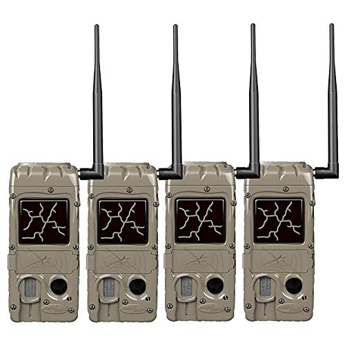 Cuddeback Cudde Link 20 MP 32GB SD Card Hunting and Game Trail Cameras (4 Pack)