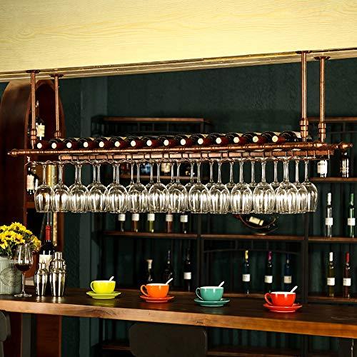 Jia He Bar Accesorios Estante for vino, barra colgante de acero con bajo contenido de carbono Estante for copa de vino Copa for vino Estante for vino Decoración comercial creativa for el hogar, 2 colo