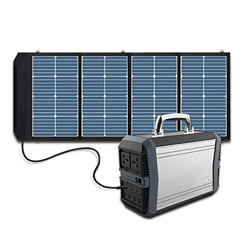 HJGHY Centrale Elettrica Portatile, Batteria di Backup 93600 mAh, Generatore Solare con 4 Pannelli di Ricarica Solare per CPAP di Emergenza da Viaggio in Campeggio All aperto,220V