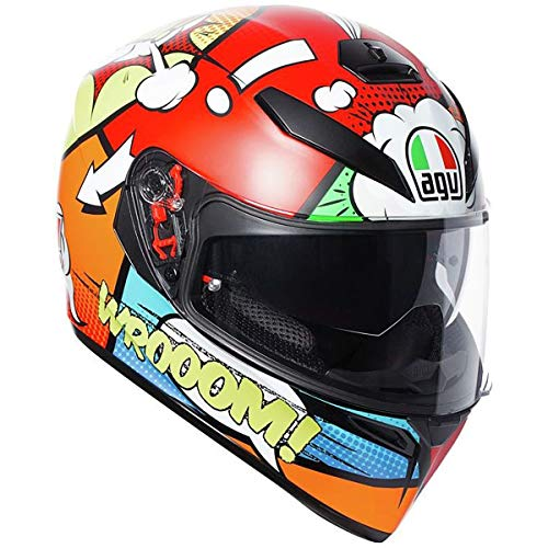 AGV Unisex-Adult Full Face K-3 SV Balloon Motorcycle Helmet (Multi, Medium/Large)