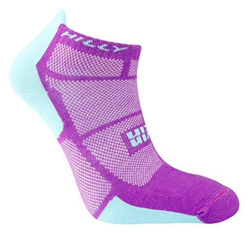 Hilly Women's Twin Skin Socklet Socks, Purple/Aquamarine, Medium