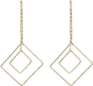 Pendientes Brisa fresca moda simple pendientes de diamantes geométricos moda exquisita popular clásico temperamento personal