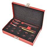UnfadeMemory Kit de Herramientas de Reparación Rosca Bujía Incandescente M10x1,0mm,15 pzas,Herramientas Profesionales