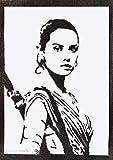 Rey Poster STAR WARS Plakat Handmade Graffiti Street Art - Artwork