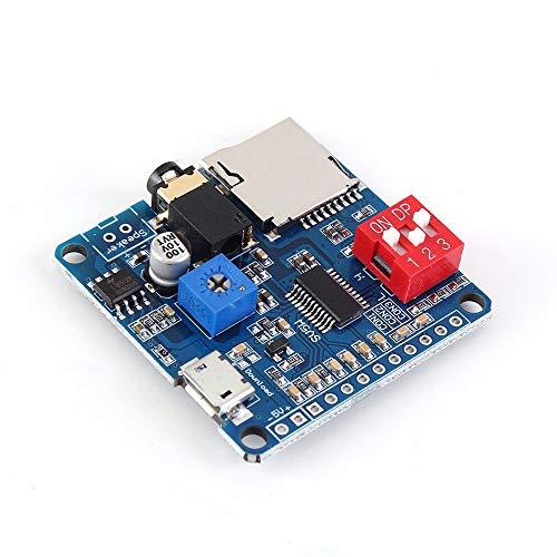 Sprachwiedergabemodul MP3, Sprachwiedergabe, MP3, UART I/O-Trigger, Verstärker Klasse D, 5 W, SD/TF-Kartenspiel, serielle Schnittstelle, Wiedergabe, kompatibel für Arduino