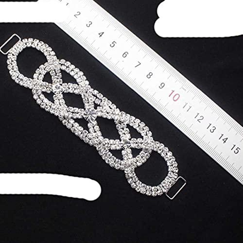 10 piezas/lote 9 estilos (se pueden mezclar) conector de bikini de diamantes de imitación sexy/cadena de cobre con hebilla apta para Pin Up plateado-n. ° 3