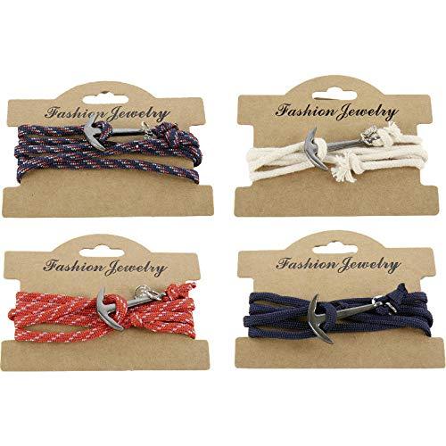 Pulsera de ancla de 52 cm con cadena enroscable, cadena | joyas | regalo para hombres | mujeres | marítimo | mar | océano | agua | puerto | (blanco/beige)
