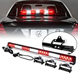 [Upgraded] Xprite 31.5' LED Emergency Traffic Advisor Strobe Light Bar w/13 Warning Flashing Patterns w/ Suction Cup Mount for Police Firefighter Ambulance Vehicles Trucks Cars JK SUV - White/ Red