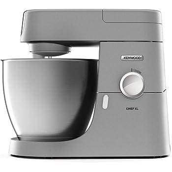 Kenwood KVL4170S Impastatrice Planetaria Chef XL, Robot da Cucina Mixer, con Frullatore e Tritacarne, 1200 W, 8 velocità, 6.7 Litri, Acciaio, Argento