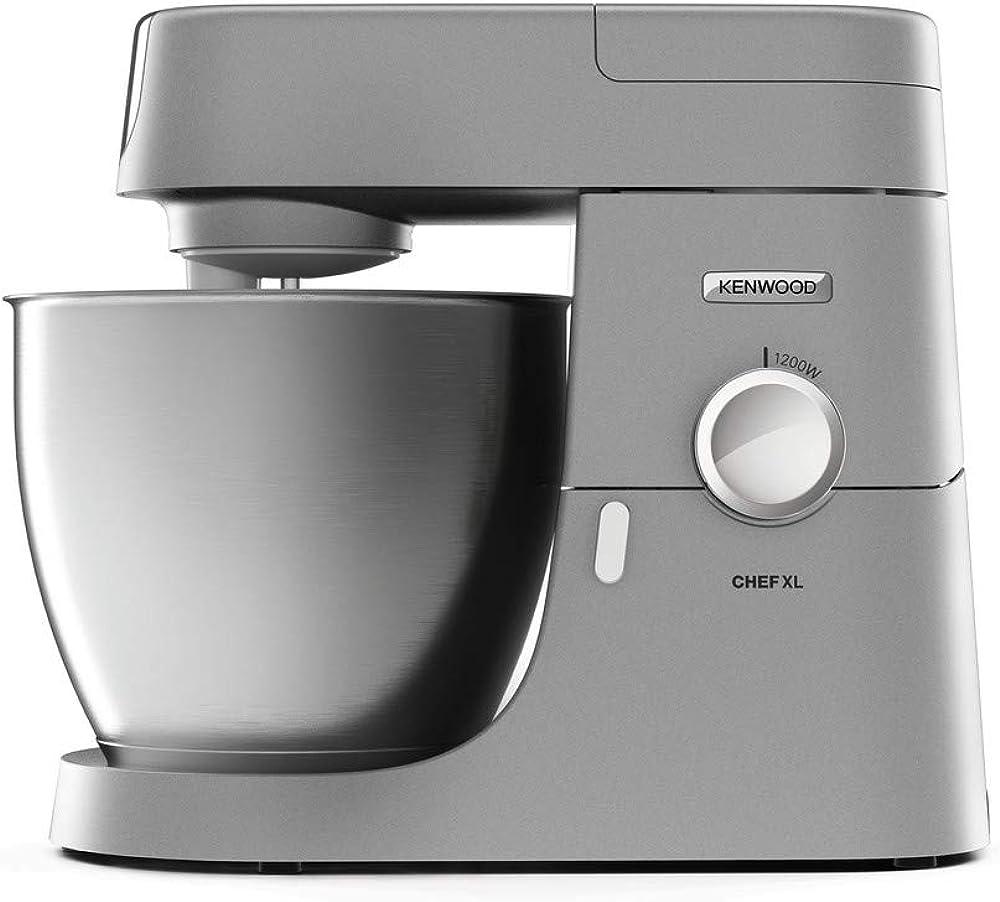 kenwood chef xl, impastatrice planetaria, robot da cucina, mixer con frullatore e tritacarne kvl4170s
