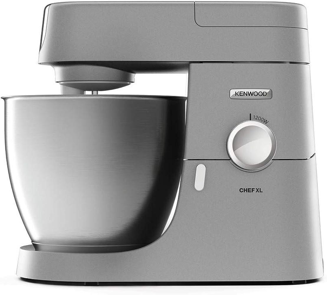 Kenwood , impastatrice planetaria chef xl, robot da cucina mixer, 1200 w, 6.7 litri,  ciotola in acciaio KVL4100S Kenwood Chef