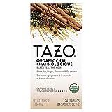 TAZO Organic Chai Enveloped Hot Tea Bags Non GMO, 24 count, Pack of 6