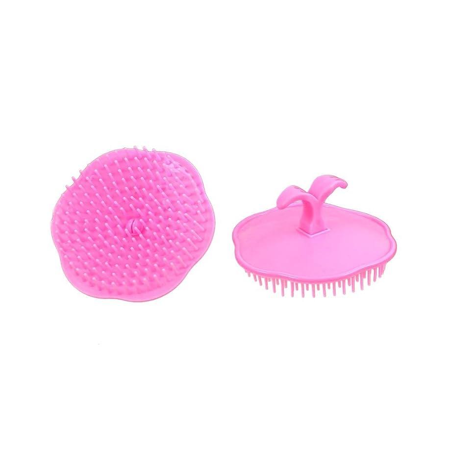 志す構造的破壊uxcell シャンプーブラシ 洗髪櫛 マッサージャー プラスチック ピンク 2個