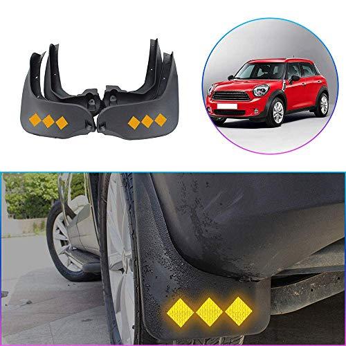 WANLING Guardabarros Delantero Posterior para Coche para Mini Countryman Cooper 2011-2018 Salpicaduras Protección Accesorios de Auto 4Pcs