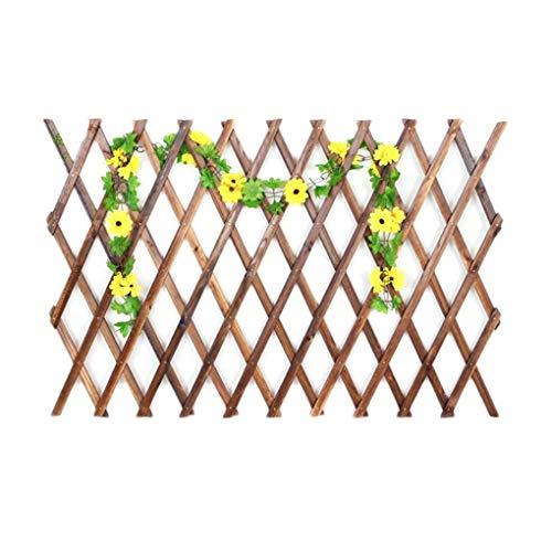 Draagbare verkoolde roestwerende houten tuin uitbreidende roosteromheining, verkoolde omheining, roestwerende houten hek voor buitendecoratie