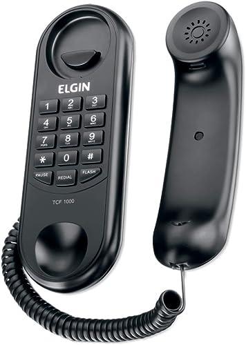 Telefone Com Fio Tipo Gondola Elgin Tcf1000 Preto, Elgin, Tcf1000P, Preto