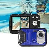 Cámara Digital a Prueba de Agua GDC8026 / Zoom Digital de 8X / 16 MP / 1080P FHD/Pantalla LCD TFT de 2,8'/ Cámara subacuática para niños/Adolescentes/Estudiantes/Principiantes/Los Ancianos (Azul)