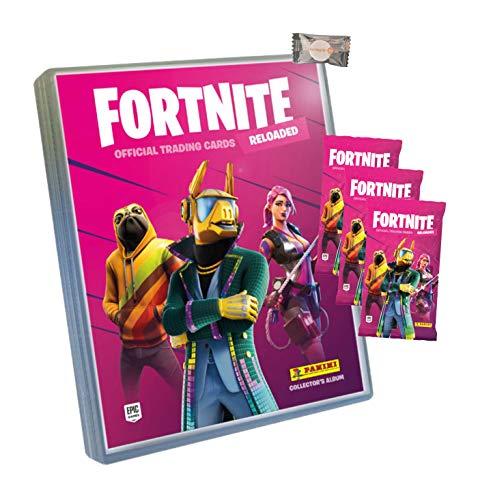 ★ Fortnite Trading Cards Reloaded Serie 2 (2020) - 1 Sammelmappe + 3 Booster + stickermarkt24de Gum