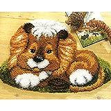 DATOU Kits De Gancho De Gancho De Bricolaje Crochet Costura De Costura Kits De Bordado Kits Inacabados Making Kit con Estampado De Lienzos Impresos(Size:110x75cm)