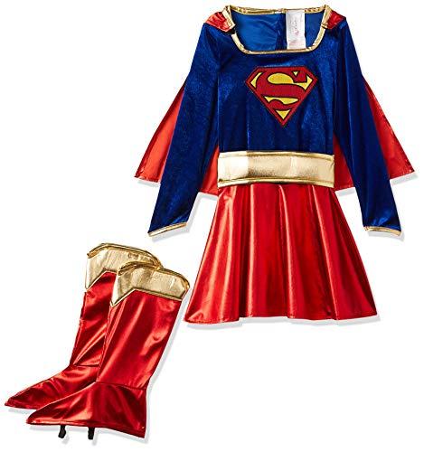 Rubbies - Disfraz de Supergirl para niña, talla L (8-10 años) (882314L)