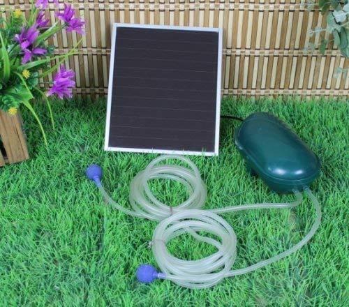 Wehmann Solar Teichbelüfter Power Doppelpumpe 200 l pro Std. Teichbelüfter für Tag und Nacht !!!