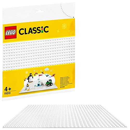 LEGO Classic BaseBianca, Base da Costruzione 25cmx25cmper Ambientazioni Invernali, 11010
