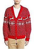 Weihnachtliche Strickjacke Rentiermuster