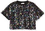 Name IT NOS Nkfsusso SS Short Oversize Top camiseta sin mangas, Multicolor (Black Black), 116 para Niñas