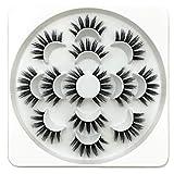 Meclelin Falsche Wimpern 7 Paare Lange 3D Natürliches Aussehen Schwarz Erweiterung Makeup Style
