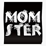 Mom Momster Monster Little Love Halloween Mother Costume Funny I FSGdecor- The Most Impressive and Stylish Indoor Decoration Poster Available Trending Now