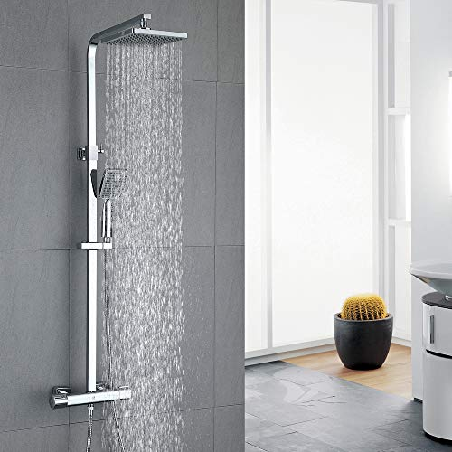 HOMELODY Shower Set Thermostatic 40 °C Mixer Shower Thermostatic with 8'...