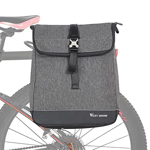 conpoir Borsa per Bicicletta 3 in 1 Borsa per Baule Posteriore per Bici Multifunzionale Borsa a Tracolla di Grande acità Zaino per Laptop Borsa per Borse Laterali Posteriori da Ciclismo