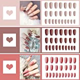 72PCS Salon Fake Nails Full Cover Matte Coffin...
