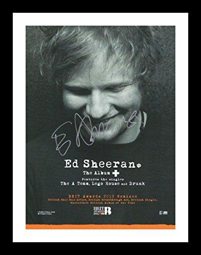 Ed Sheeran Autogramme Signiert Und Gerahmt Foto
