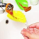 Faucet Handle Extender Sink Handle Extender, Leaf Design Safety Faucet Extender for Children Toddler Kids Hand Washing Baby Kids Hand Wash Helper Bathroom Sink (2PCS/Pack) Guang-T