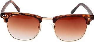 IPOTCH Retro Fashion Semi-rimless Metal Frame Sunglasses Outdoor Eyewear
