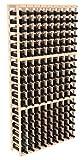 Wine Racks America Pine 9 Column Wine Cellar Kit Unstained
