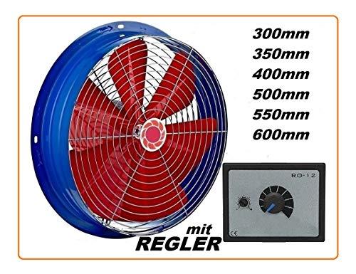 Uzman-Versand 350mm axiale ventilator met 500W regelaar, wandventilator axiaal muur raam ventilator metaal motor ventilator