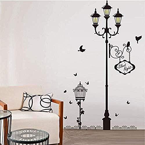 Adesivi da parete decorazione della casa murale artistico lampada antica uccello vinile soggiorno camera da letto divano adesivi di sfondo decorazione carta da parati