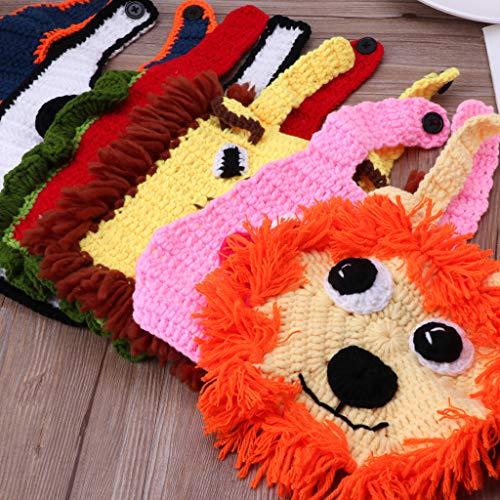 S-TROUBLE Unisex Crochet Baberos para recién Nacidos Accesorios de fotografía para bebés Estilo Animal Lindo Bebé recién Nacido Accesorios para fotografía Infantil