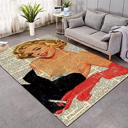 Alfombras Marilyn Monroe Alfombras de Franela Suave Alfombras Impresas en 3D Alfombras Antideslizantes Alfombra Grande Alfombra Estilo de decoración del hogar