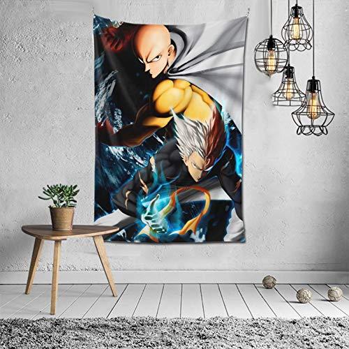 One PUNCH-MAN - Tapiz para colgar en la pared, dormitorio, dormitorio, sala de estar, decoración artística de tapicería, 60 x 40 pulgadas
